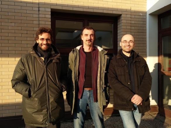 Maro Cvitan (assistant professor at the University of Zagreb) (left), Predrag Dominis Prester (associate professor at the University of Rijeka) (centre) and Ivica Smolić (assistant professor at the University of Zagreb) (right)