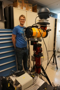 "Michael Coughlin is currently a post-doctoral fellow at Harvard University with Prof. Christopher Stubbs. In September 2016, he successfully defended his Harvard Physics PhD, titled ""Gravitational-wave astronomy in the LSST era"". He began researching gravitational waves with LIGO over eight years ago as a college freshman at Carleton College in Northfield, MN and it was very exciting for him to be part of LIGO'S historical confirmation in February 2016. At Harvard, he added the Large Synoptic Survey Telescope (LSST), Pan-STARRS, and ATLAS to his research areas, including designing and building a prototype calibration system, which he nicknamed ""CaBumP"". Coughlin dances on the Harvard ballroom dance team and enjoys the chaos of teaching 3rd and 4th graders in an after-school math and science program at a local elementary school."