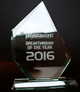 Physics World breakthrough of the year prize