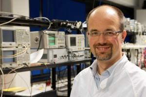Michael Troebs in the lab