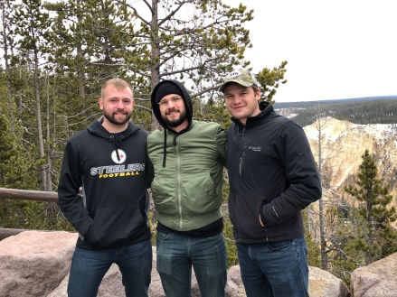 Travis, Blake and David at Yellowstone